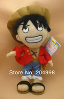"Free shipping  Anime The New World ONE PIECE 12""  Two year later Luffy Cosplay Plush Stuffed Toy Doll"