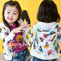 Best selling!!promotion explosive head Girls sweater jacket kids cotton hoodies Sweatshirts free shipping