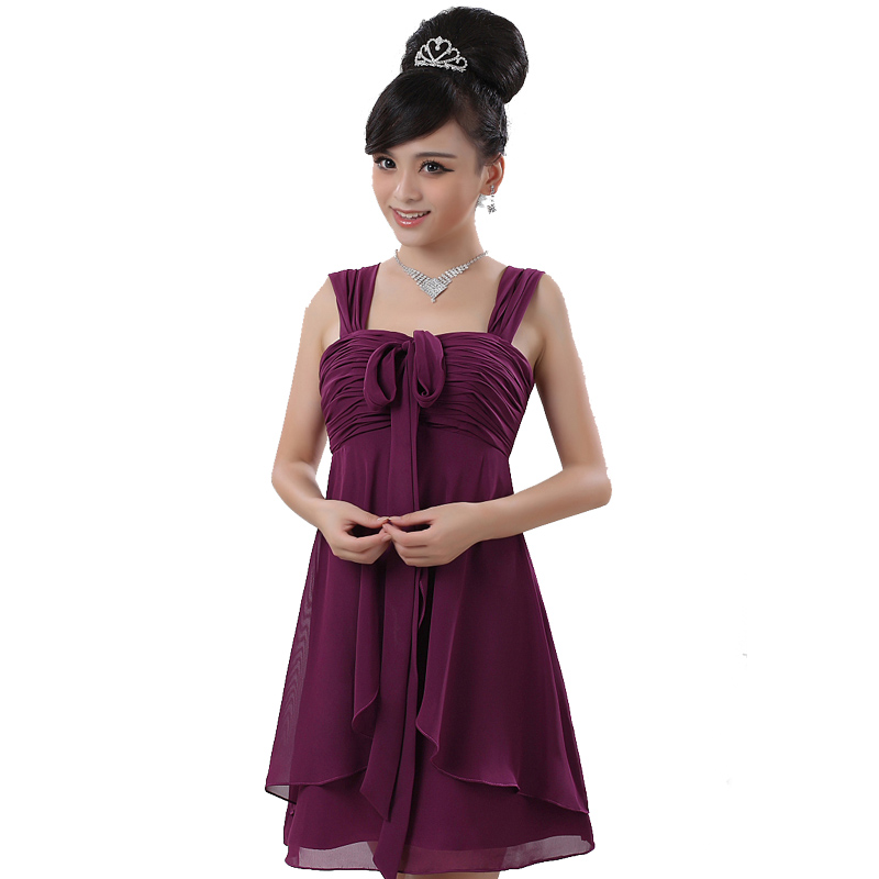 Purple dress/Evening Dresses/ladies' evening dresses(China (Mainland))