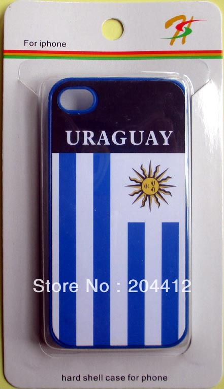 Uruguay National Soccer Team Hard Case Cover for Apple iPhone 4 4s W/ Retail Box(China (Mainland))