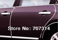 Free shipping  car decoration strip door chrome auto Air-conditioning outlet Trim Side Door Trim Grille Trim  Interior
