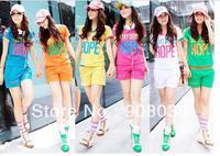2013 New sports suit  women fashion summer leisure wear and sports wear short sleeve T-shirt