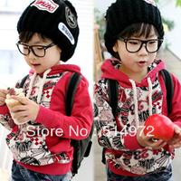 Best selling!!2013 spring autumn printing boys t-shirt long sleeve kids sweater jacket hoody hoodies free shipping
