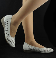white genuine leather breathable nurse shoes soft outsole comfortable shoes flat sandals wedge shoes size 33- 43