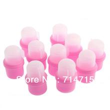 High Quality 10 Wearable Nail Soakers nail polish remover DIY Acrylic UV Gel Cap Tip Set nail tools(China (Mainland))