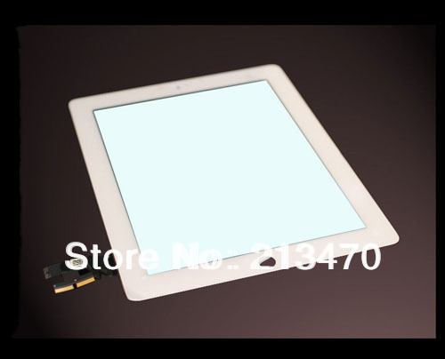 20pcs/lot Digitizer Touch screen For iPad 2 2nd Gen Replacement white or black +adhesive/free tools(China (Mainland))