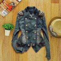 Free shipping New Korean Women winter denim clothing short denim jacket women long-sleeved jacket