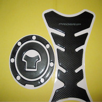 Carbon Fiber Fuel Tank Pad + Gas Cap Cover For Honda