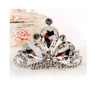 2013 new items Free shipping! Silver Elegant flower heart children crown tiaras flower girl use for wedding jewelry HG084