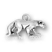 free ship 100pcs a lot alloy antique silver florida panther charm pendants jewelry