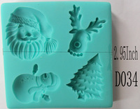 1Pcs Christmas Chocolate Candy Jello Mold Mould cake tools Bakeware sugarcraft