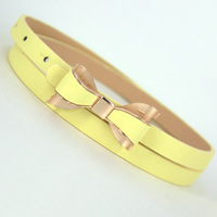 On Sale Bow thin belt female candy color strap matt butterfly flower belt decoration belt FREE SHIPPING