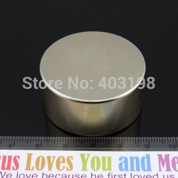 Promotions!Super Powerful Strong Rare Earth Block NdFeB Magnet Neodymium N35 Magnets D40 * 20mm - Free Shipping