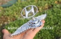 Fit Hyundai Wings Badge VIP Car Logo 3D Front Hood Bonnet Emblem 8.5*3.9inches
