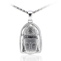 Silver 925 pure silver thai silver bangkok silver Men natural white crystal amucks guanyin pendant male pendant