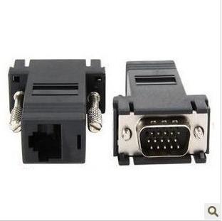 10pcs/lot VGA Extender Male to LAN CAT5 CAT6 RJ45 Network Cable Female wholesale(China (Mainland))