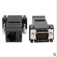 10pcs/lot VGA Extender Male to LAN CAT5 CAT6 RJ45 Network Cable Female  wholesale