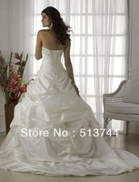 Free shipping!! 2   pieces  / lot   Stock  Wedding Brides Dress size 6 8 10 12 14 16 Wedding Dresses Empire