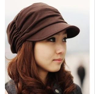 Корейская версия весной и зимой gorro cap женская мода пелерина нежный женщины шляпы 3 сплошной цвет для бесплатная доставка
