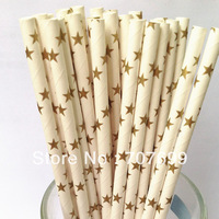 Free shipping 500pcs Paper Straws,Star Paper Straws, Drinking Paper Straws Party Paper Straws Gold Star Mix Colors Accept