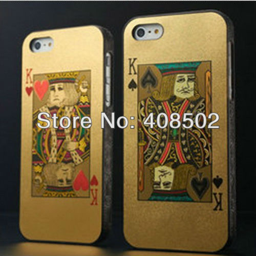 Poker Squeezer Playing Card Case Cover Skin For Apple iPhone 5 5G Accessory J Q K A Joker Design Hard Plastic 100pcs/lot CA5113(China (Mainland))