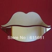 Freeshipping Waterproof acrylic mirror wall sticker / Lips Mirrors