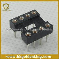 60pcs 8Pins  DIP  DIP-8  IC Socket  Test Socket Round Hole Free Shipping