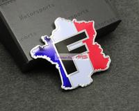 French car F Emblems Badge Motor Sport Racing Sticker Rear For Renault bugatti Peugeot Citroen Ibrahim card Free Shipping High