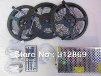 [Seven Neon]15M IP65 300leds 5050 led SMD RGB Led strip+44keys IR remote controller+led strip amplifier+12V 20A Power Adapter