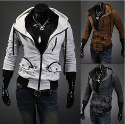 2013 hot style Assassin creed - double zipper Hoodie jacket(China (Mainland))