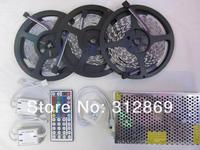[Seven Neon]15M IP65 waterproof 300leds 5050 led RGB strip+44keys IR remote controller+led strip amplifier+12V 20A Power Adapter