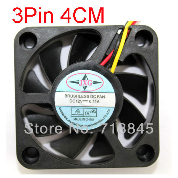 Black 3 Pin 12V 40mm 4010 4cm Brushless DC Fan PC Cooling Cooler Fan(China (Mainland))