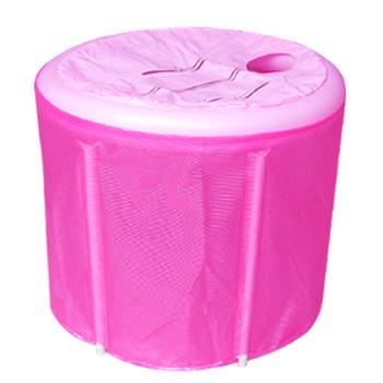 Jkhappy 70 lid pump folding tub folding bathtub bath bucket bath bucket bath basin