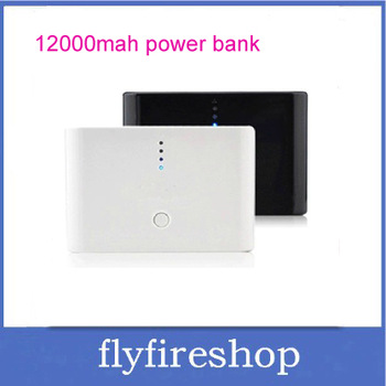 Hot sale!12000mAh 2 Dual USB for iPhone and iPad series MID Tablet PC External Battery Charger Power Bank portable power 20pcs