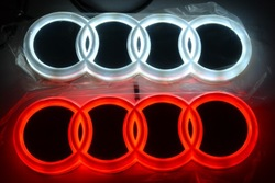 Free shipping New Design auto LED logo badge light car led emblem for audi(China (Mainland))