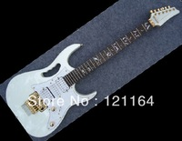 Best New China Guitar With locking Tremolo 7V Jem Model Top Quality electric Guitar White Musical Instruments