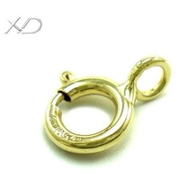 XD K010 18K gold 4.5mm spring ring clasp jewelry neckalce clasp