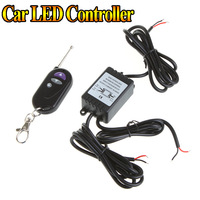 DC 12V RF Wireless Single Color Car LED Remote Controller for SMD 5050 3528 LED Strip Light & DRL Daytime Running Light 12 modes