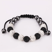 Shamballa Fashion Jewelry Wholesale New Austrian Crystal Shamballa Bracelets Micro Pave CZ Disco Ball Bead Bracelet For Men