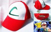 New Anime Pokemon ASH KETCHUM trainer costume cosplay hat cap