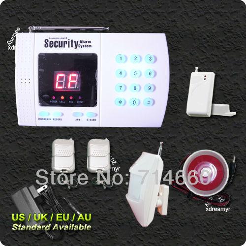 Wireless Home Alarm System w/ Auto Dialer Home Security Telephone Line Alarm(China (Mainland))