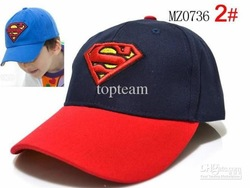 2012 hot new Fashion Baby boy sun hats Superman baseball cap Cool superman cap Baby musthave hats(China (Mainland))