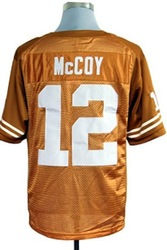 Free shipping Epacket, Discount Men Texas Longhorns Colt McCoy #12 Orange College Football Jerseys, Stripped logos sewn(China (Mainland))