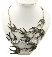 Free shipping 2013 Fashion Vintage  Metal Necklace 12pcs/lot
