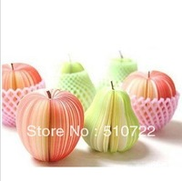Free Shipping 10PCS/LOT Apple Pear Style Memo Pad Notebook Promotion Gift Fruit style