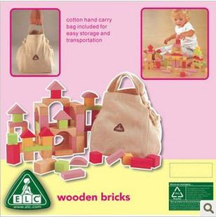 Elc 100 blocks loading storage bag box educational toys