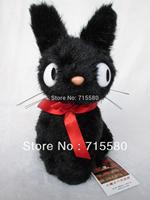 "Ghibli Kiki's Delivery Jiji Black Cat Soft plush doll toy 8"" By Sun Arrow Cute"