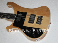 Free Shipping Natural 4 Strings RICK Left Hand Electric Bass High Quality Wholesale HOT