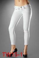 2013new Wholesale -  Fashion Women's jeans Women white Jean Womens jeans Skinny jeans TW15