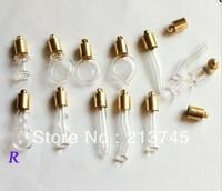 Free shipping!!!Mixed Style  Absolute Value Vial pendant  5mm (golden Metal Cap/pendant/Mini/Charm/  Bottle/Miniature/Vials)